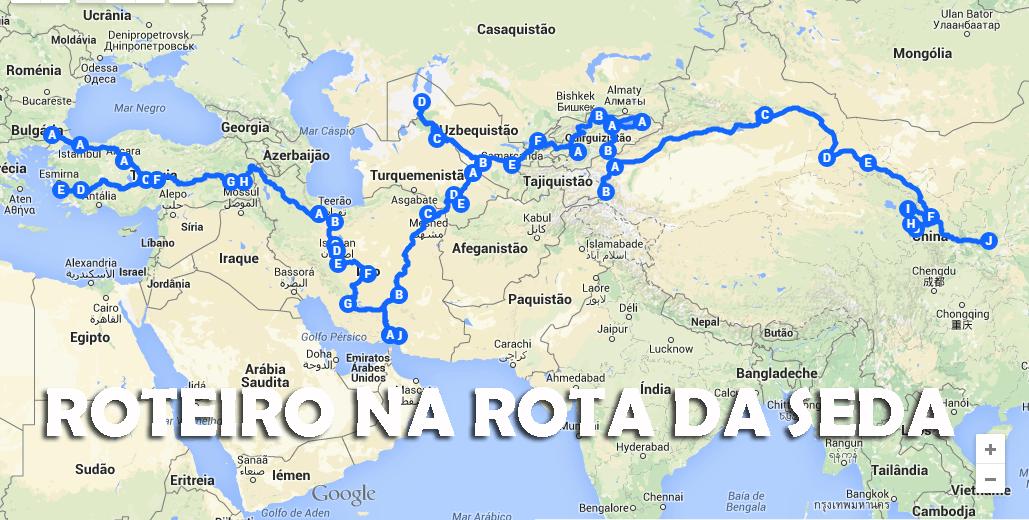 Roteiro de viagem para a ROTA DA SEDA