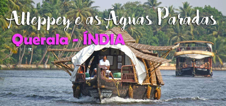 Explorando as Águas Paradas (Backwaters) em ALLENPPEY, a bordo de uma casa-barco | Índia