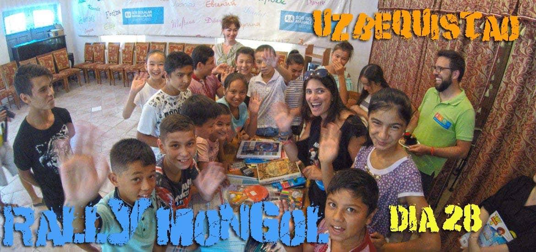 Dia 28 – As crianças da ALDEIAS SOS abrilhantaram o nosso dia em Samarcanda 🇺🇿 | Crónicas do Rally Mongol