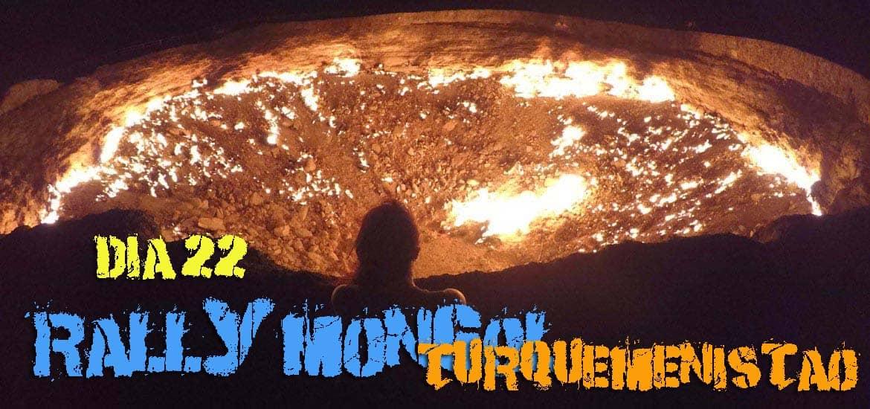 Dia 22 – Em DARVAZA, o Turquemenistão estranha-se mas depois entranha-se MESMO! 🇹🇲 | Crónicas do Rally Mongol