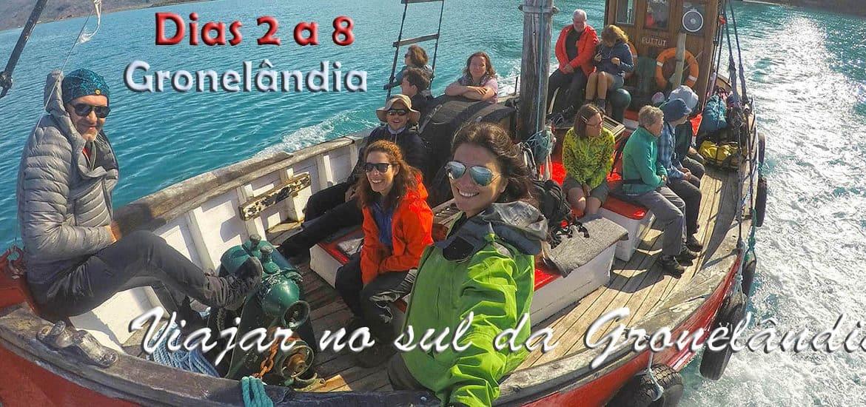 Dias 2 a 8 - Viajar no sul da Gronelândia
